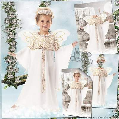Children's template for a girl - Dancing Angel