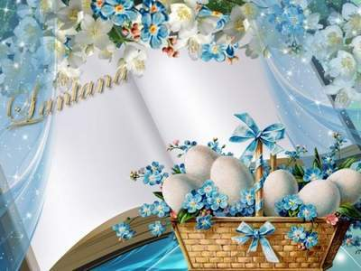 Easter photoshop template free psd file free download