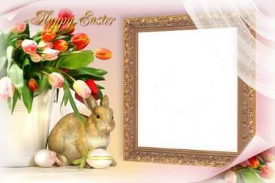 Congratulatory Photoframe - Happy Easter!