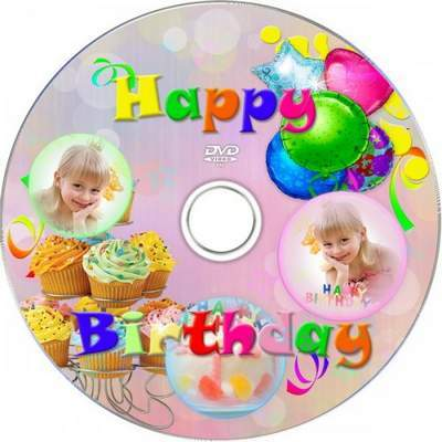 Children's set for Photoshop - Happy Birthday free download
