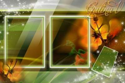 Flower Photoshop photo frame psd Flower frame free download