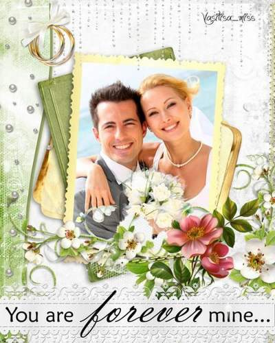 Beautiful frame Photoshop photo frame psd wedding free download
