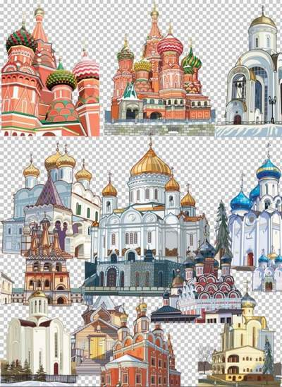 Churches, Temples Clip art psd on a transparent background free download