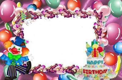 Children's birthday frame - the mood of sweets free download