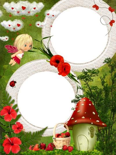 Baby Frame psd photoshop Wild Strawberries free download