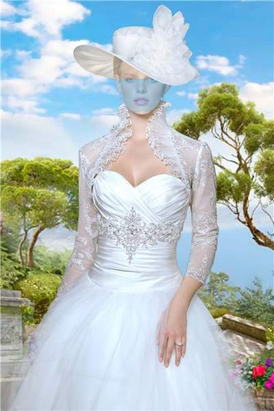 Lady in white wedding dress Photoshop costume psd free download