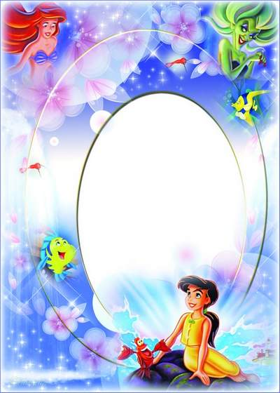 Children frame with cartoon character The Little Mermaid 2 - Return To The Sea