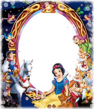 Frames for photos with Disney - Snow White and the Dwarf free download