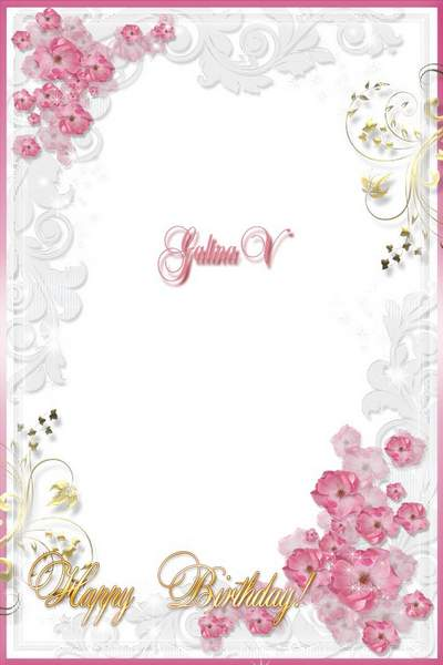 Woman's Frame - Happy Birthday! free download