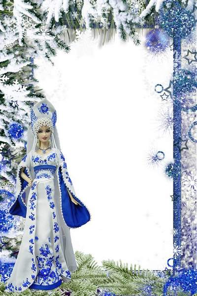 Christmas picture frame with a Barbie doll free download