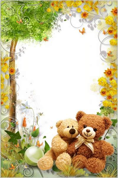 Kid's Frame for Photoshop - Remarkable Teddy Bears