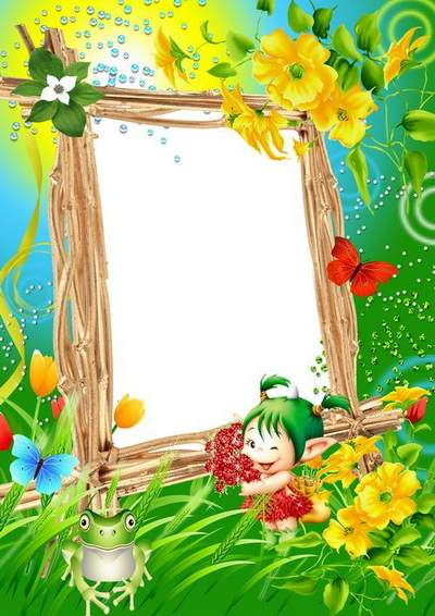 Children's Picture Frame with funny frogs - Smile!