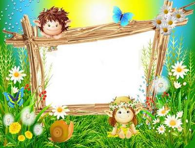 Children summer frame - Magical World of Fairy Tales
