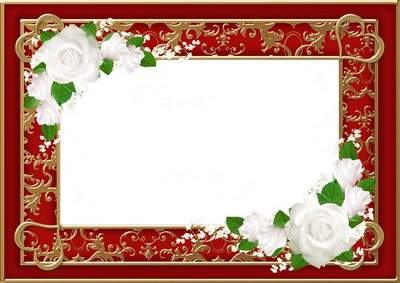 Wedding photo frame - Luxury wedding and delicate flowers