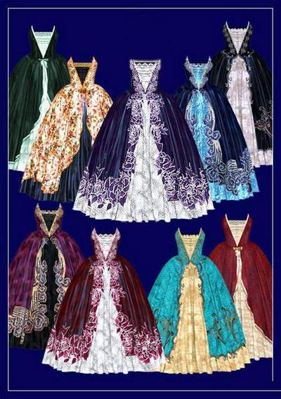 Clothing clipart psd download - ballroom dresses free psd file