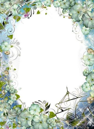 Flower Frame free psd + free png download- Playing in the sand sea