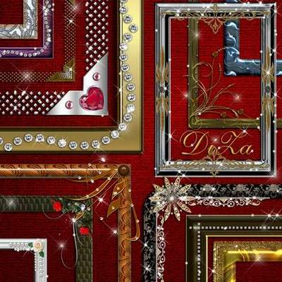 Set decorative free png frames cuts download - 30 PNG frames
