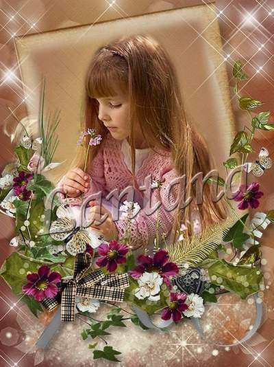 Frame for decoration photo free download - Flower Fairy