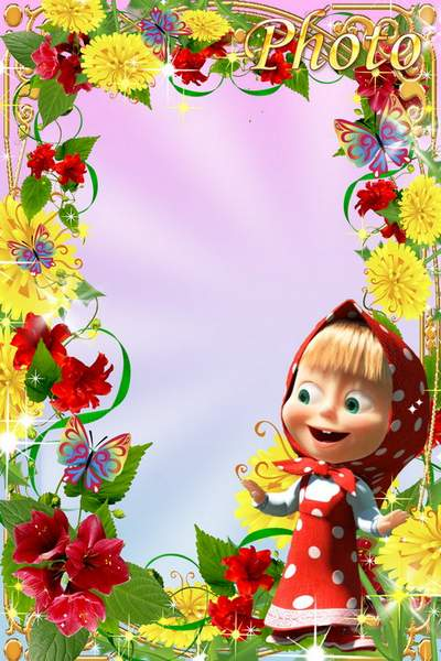 Children's frames with Masha and the Bear free download
