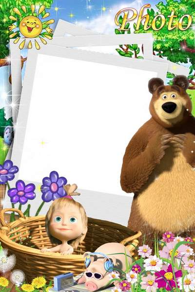 ildren's frames with Masha and the Bear free download