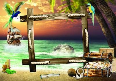 PSD frame free download - Sea Adventure 2