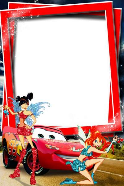 Child`s photo frame free download - On way