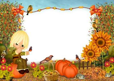 Photo frame free download - The Gifts of Autumn
