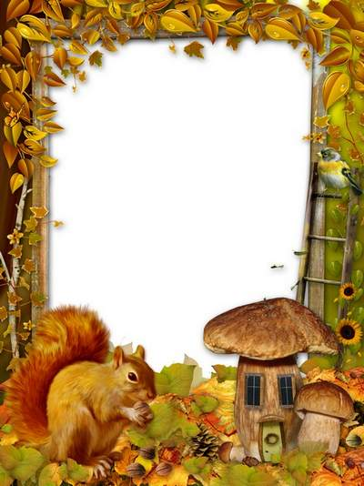 Children's source and frame free download - Autumn Tale walks through the woods quietly
