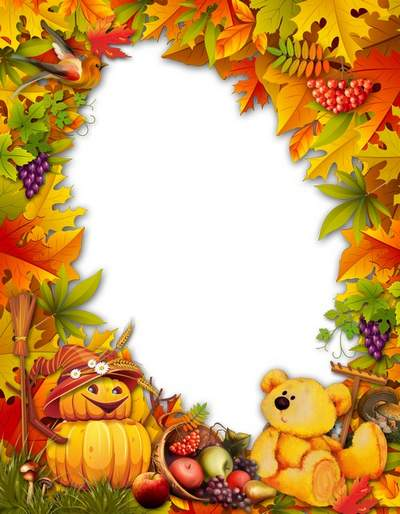 Autumn frame free download - Autumn harvest feeds the birds, beasts, and you and me