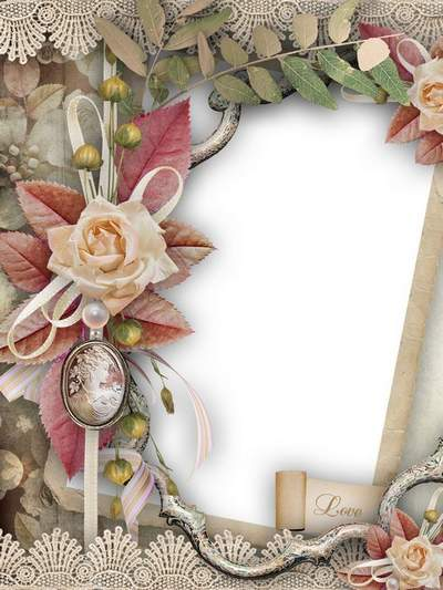 Vintage Frame for Photoshop free download - Fairy Flowers