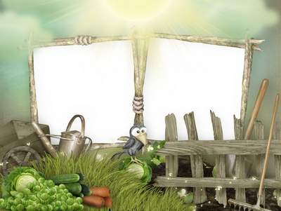 Children frame free download - The young gardener