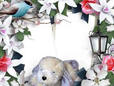 Children's frame with flowers free download - My Watchdog