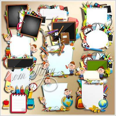 School fame cutouts download - free psd clipart