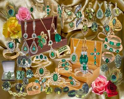 Jewelry Clipart download - Emerald jewelry free psd file