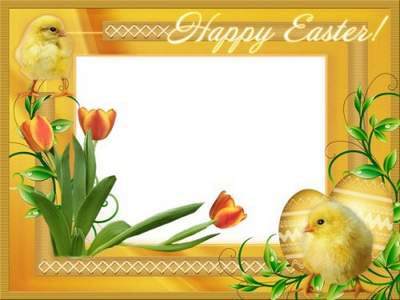 Child Frame psd - Happy Easter, my baby free download