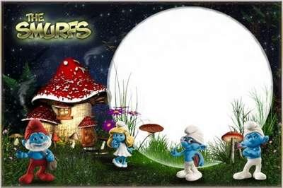Kid's Frame - In the Village Of the Smurfs free download