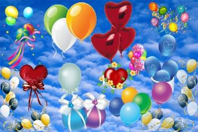 Balloons Clipart free psd download