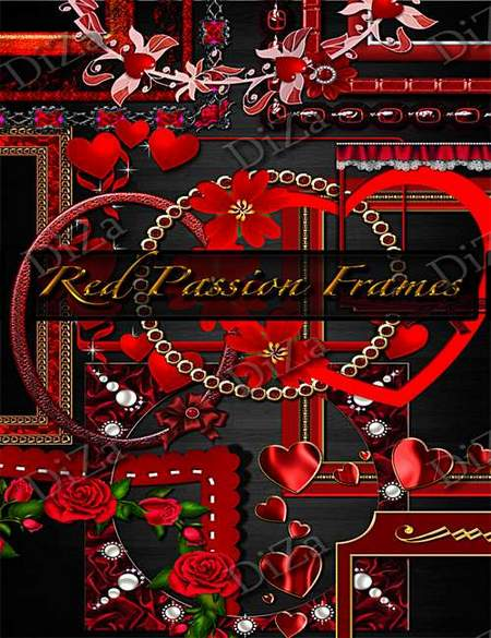 Red frames png download - 44 free png frames