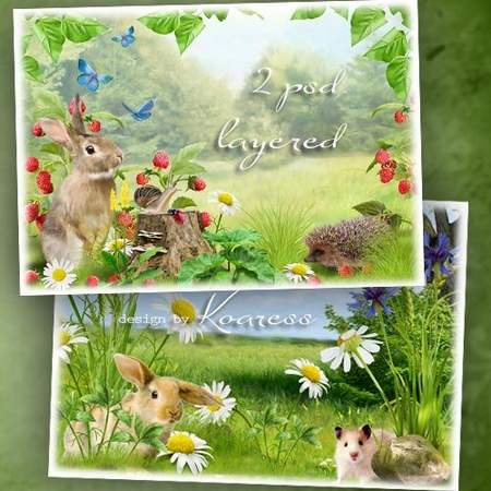 Nature free psd source download - Summer meadow