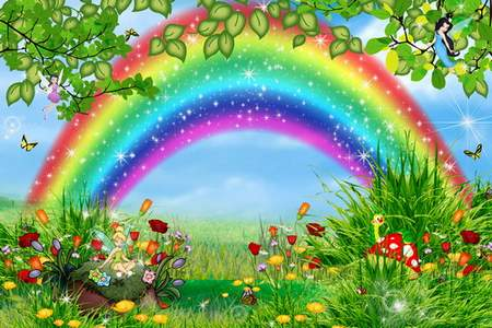 Butterflies and Rainbow (children multilayer PSD)