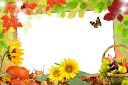 Frame for Photoshop download - Color autumn