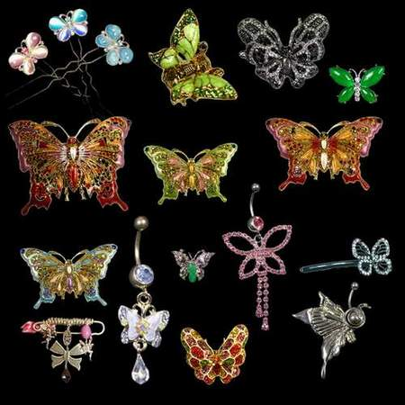 Jewelry Clipart download - butterfly on a transparent background (free psd file)