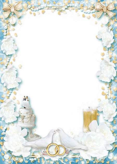 Wedding photo frame - When love blooms in the hearts
