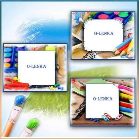 School frame psd download - free psd template