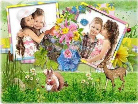 Kid frame psd download - free photo frame psd template