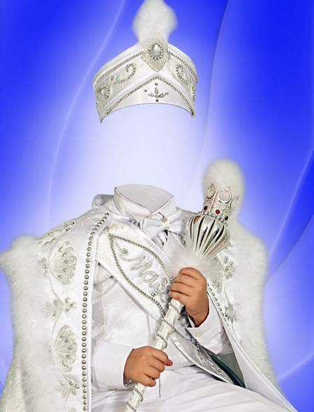 Children's costume for Photoshop - White Prince