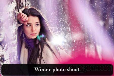 Winter photo shoot