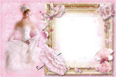 Woman's Frame for Photoshop - Glamourous, Pink and Stylish