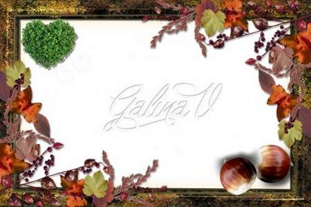 Autumn Frame png download for photo - Beauty Autumn