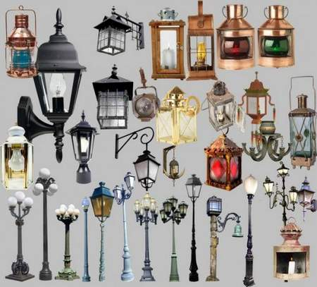 Old lamps Clipart download - free psd file